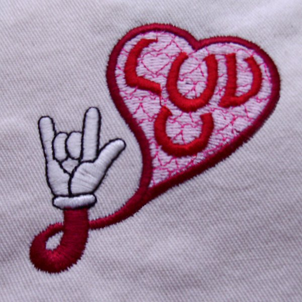 Luv U Hand Embroidery Design The Only Stitch